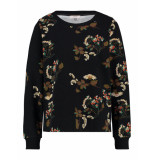 L.O.E.S. 20194 9013 loes hornbeam flower sweater black/sand