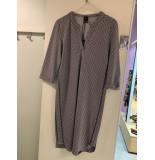 Penn & Ink W19mjillc 90-05 ny jurk jill stripe black - ecru