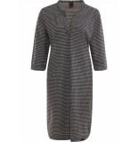 Penn & Ink W19mjilla 90-05 ny jurk jill cross black - ecru zwart
