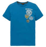 PME Legend Short sleeve r-neck play lw tshirt mykonos blue blauw