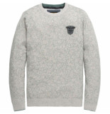 PME Legend Crewneck cotton mouline grey melee grijs