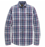 PME Legend Long sleeve shirt indigo check purple passion paars