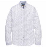PME Legend Long sleeve shirt poplin print bright white wit