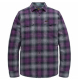PME Legend Long sleeve shirt check purple passion paars