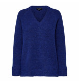 Selected Femme Selected lanna v-neck knit blauw