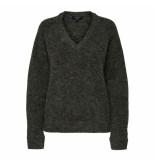 Selected Femme Selected lanna v-neck knit groen