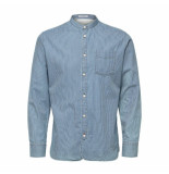 Selected Homme Selected shirt ls stripe licht blauw