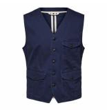 Selected Homme Selected harold waistcoat blauw