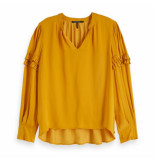 Maison Scotch v-neck top okergeel