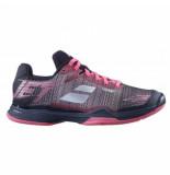 Babolat Tennisschoen women jet mach ii clay pink black roze