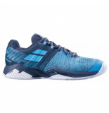 Babolat Tennisschoen men propulse blast clay grey blue grijs