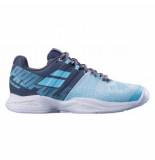 Babolat Tennisschoen women propulse blast clay grey blue radiance grijs