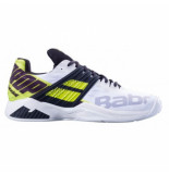 Babolat Tennisschoen men propulse fury clay white fluo aero wit