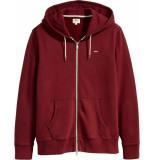 Levi's Original hm zipup hoodie cardigan rood