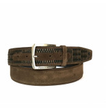 Floris van Bommel Floris van Bommel herenriem brown plait art. 75159/17