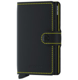 SECRID Mm miniwallet matte black & yellow zwart