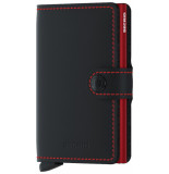 SECRID Mm miniwallet matte black & red zwart