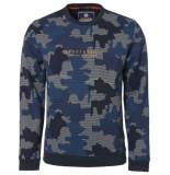 Noize Sweat, r-neck, allover camouflage blauw