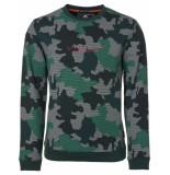 Noize Sweat, r-neck, allover camouflage groen