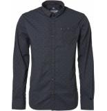 Noize Shirt, l/s, all over printed zwart