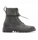 Rehab Boots darcey lizard metal dark brown bruin