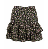 Ambika Rok flower skirt 190611 zwart