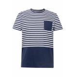 Esprit Jersey shirt met strepen 069ee2k023 e400 blauw