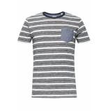 Esprit Jersey shirt met strepen 069ee2k007 e110 wit