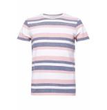 Esprit Pique shirt met strepen 059ee2k032 e665 roze