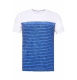Esprit Jersey shirt met strepen 059ee2k025 e400 blauw