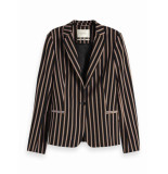 Maison Scotch 150035 98 classic tailored blazer in stripes and solids combo s zwart