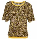 Summum 3s4242-30024 235 top leopard print sun yellow geel