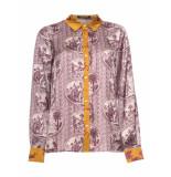 Maison Scotch 146330 17 mixed print shirt combo a geel