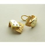 Christian Gouden oorclips met diamant geel goud