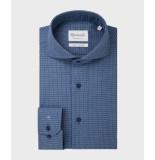 Michaelis Birdseye shirt van (extra lange mouwen) blauw
