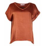 Ambika T-shirt silky top 63653 oranje