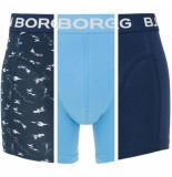 Bjorn Borg 3-pack boxers nautica mono blauw