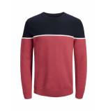 Jack & Jones Brit knit pulover rood