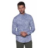 Emporio Armani Casual overhemd met lange mouwen blauw