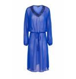 DIDI Semi-transparante jurk met pailletten blauw