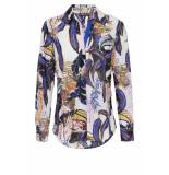 DIDI Basis blouse met print blauw