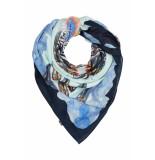 DIDI Vierkante sjaal met bloemendessin ecru