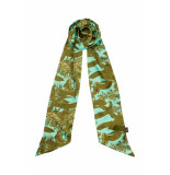 DIDI Smalle sjaal met all-over print blauw