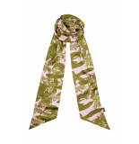 DIDI Smalle sjaal met all-over print roze