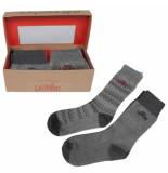 Tokyo Laundry Heren giftbox sokken macklemore grijs40 blauw