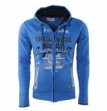 Geographical Norway Heren vest sweat capuchon sailing blauw