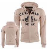 Canadian Peak Heren vest sweat capuchon foyrider beige