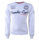 Geographical Norway Heren sweater monte carlo ronde hals folo wit