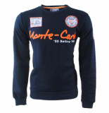 Geographical Norway Heren sweater monte carlo ronde hals folo blauw