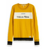 Scotch & Soda 153168 55 basic crewneck pullover geel